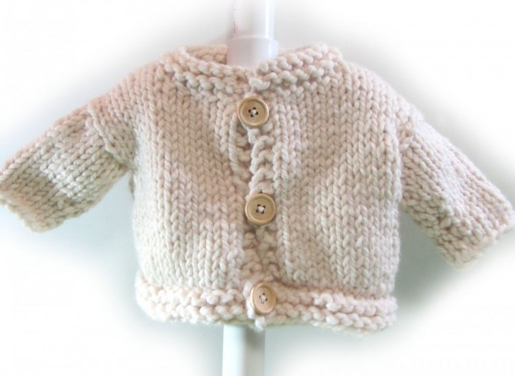 KSS Natural Heavy Knitted Sweater/Jacket (12 Months)