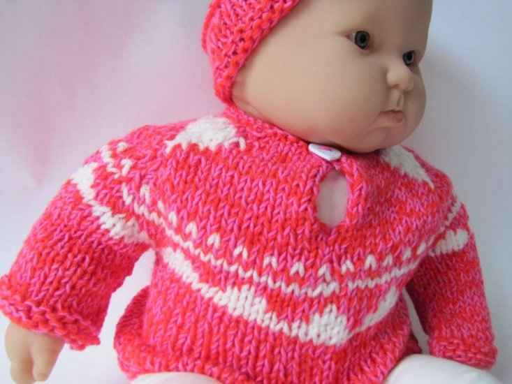 KSS Rose Colored Sweater with a Headband (9 - 12 Months)