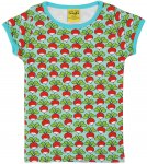 DUNS Organic Cotton Radish Turquoise Short Sleeve Top (12-18 Months)