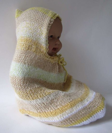 KSS Knitted Striped Cocoon 0 - 6 Months