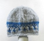 "KSS Grey/Blue with Fair Isle Hat 13"" (0-3 Months)"
