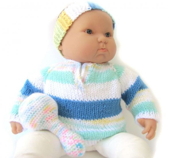 KSS Pastel Sweater with a Headband and Rattle (9 - 12 Months)