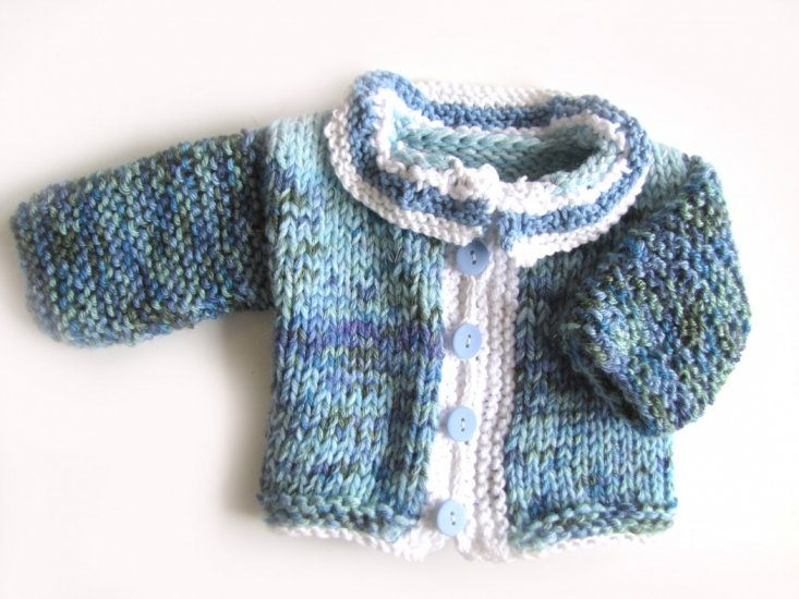 KSS Blue/Purple/White Sweater/Cardigan (3 Months)