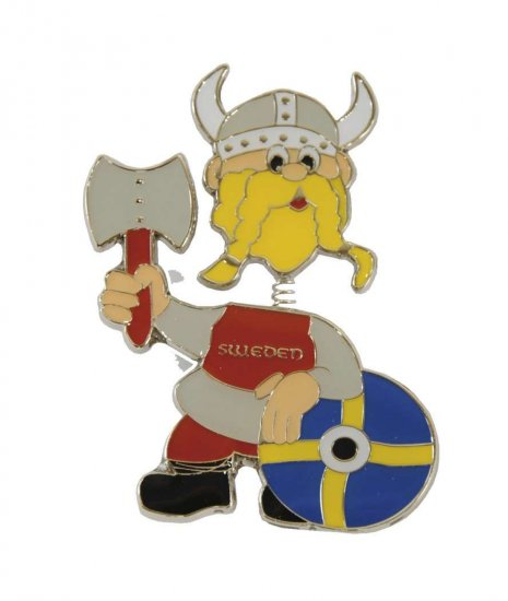 Ola Nesje Sweden Viking Magnet with Moving Head 21111