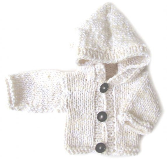 KSS White Heavy Hooded Sweater/Cardigan (0 - 3 Months)