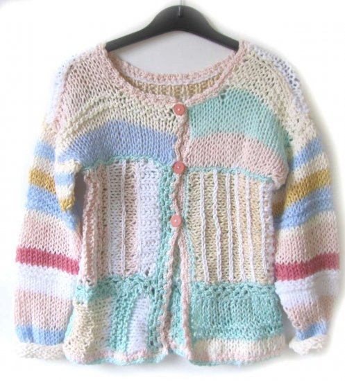 KSS Pastel Knitted Acrylic Sweater/Tunic 5 Years