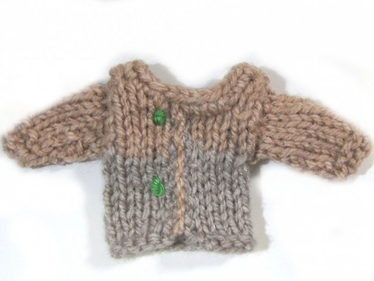 KSS Heavy Doll Sweater for Tiny Doll or Teddybear