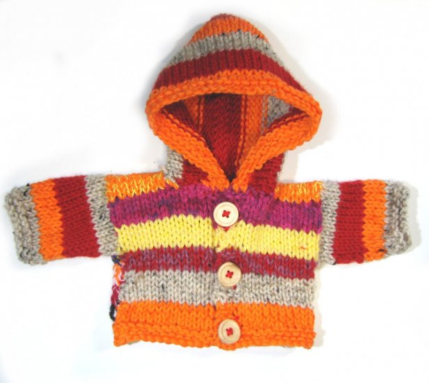KSS Bright Hooded Baby Sweater/Jacket 3 Months