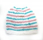 "KSS Striped Pink/Green Beanie 10-11"" (1 Months) KSS-HA-633"