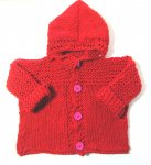 KSS Red Acrylic Hoodie Sweater/Jacket (2 Years) KSS-SW-891