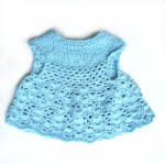 KSS Baby Knitted/Crocheted Soft Aqua Dress 0-3 Months