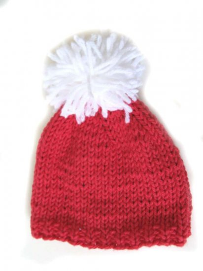 "KSS Red Knitted Santa Hat 12-15"" (0-12 Months)"