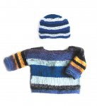 KSS Blue Cotton Pullover Baby Sweater (18 Months) SW-812-AZH KSS-SW-812-AZH