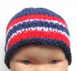 KSS Navy Beanie with Norwegian Colors 13-15 inch 3-9 Months) KSS-HA-598