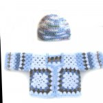 KSS Sky Colored Granny Sweater/Jacket (6 Months) KSS-SW-072-EB