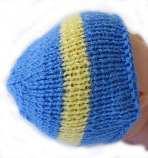 KSS Blue Beanie with Swedish Colors 10-11 inch (XS/Newborn)