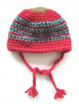 KSS Red/Green Hat with Red Pom Pom (Newborn)