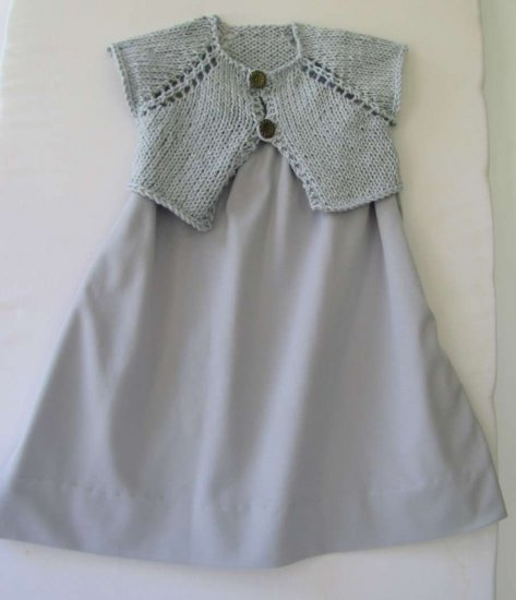 KSS Grey Cotton Polyester Dress and Vest 3 Years