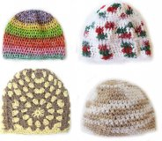 KSS Crocheted Cotton and Acrylic Beanies