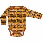"DUNS Organic Cotton ""Busses"" Long Sleeve Onesie (Newborn) DUNS-BUSCALSB50"