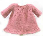 KSS Baby Knitted Soft Cotton Pink Dress 3 Months