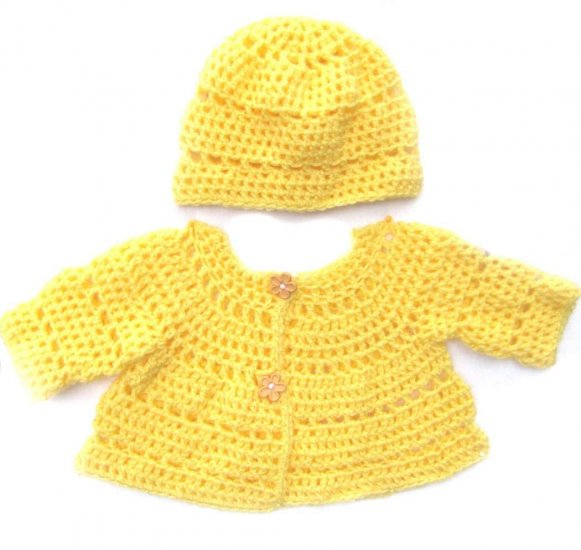 KSS Yellow Sweater/Jacket with a Hat 9 Months