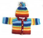 KSS Rainbow Sweater/Cardigan with a Hat (2-5 Months) KSS-SW-742-AZ