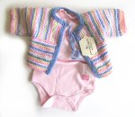 KSS Striped Pastel Sweater/Cardigan (6 Months) KSS-SW-270-EBK