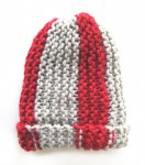"KSS Red/Grey Ribbed Beanie 13"" (3 Months)"