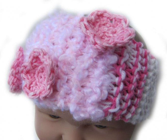 KSS Pink Colored Knitted Headband 15-18""