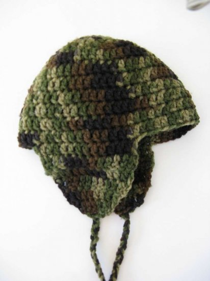 "KSS Camouflage Hat with Earflaps 17-18"" (2-3 Years)"