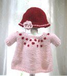 KSS Pink Baby Pullover Sweater with a Hat (9-12 Months) KSS-SW-877-ET