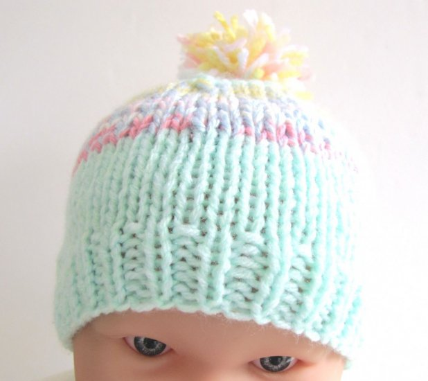 "KSS Knitted Hat with Pom Pom 14-15"" (3 -18 Months) - Click Image to Close"
