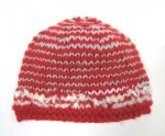 "KSS Red/Grey/White Winter Beanie 12"" (Newborn) KSS-HA-630"
