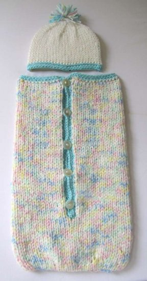 KSS Handmade Knitted Multi Colored Pastel Soft Unisex Baby Bag w Zipper and 3 Months BB-050 SALE!