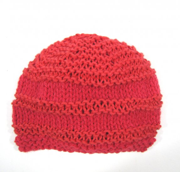 "KSS Very Soft Red Beanie Hat 13"" (0-3 Months)"