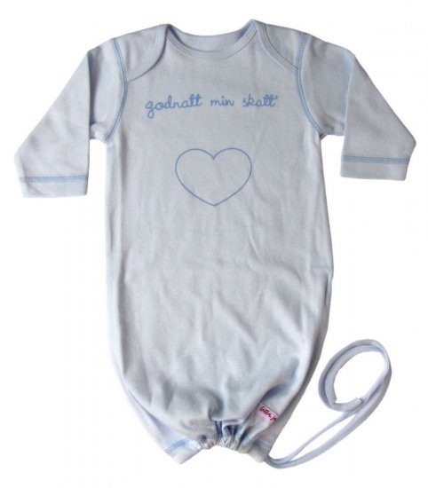 "Liten Jag Babybag Light Blue ""godnatt…\"" (goodnight…) 0 - 3 Months"