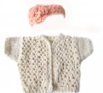 KSS Lacy Natural Color Sweater/Jacket (6 - 9 Months) KSS-SW-166-HB-178-EB