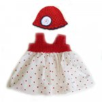 KSS Cotton Dress Red with Hearts 24months KSS-DR-041-HA-041-EB