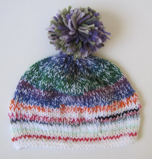 "KSS Striped Blue Mix Beanie 17 - 19"" (2-5 years)"