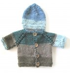 KSS Blue/Green/Brown Baby Sweater and Hat (3 Months) KSS-SW-906-ET