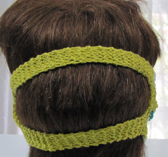 KSS Striped Around Head Knitted Lined Cotton Face Mask 5 & up