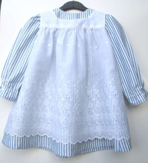 KSS Blue/White Carl Larsson 2 Piece Dress in sizes 2-3 Years