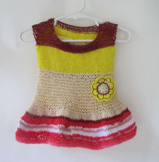 KSS Free Form Knitted Dress 18 Months