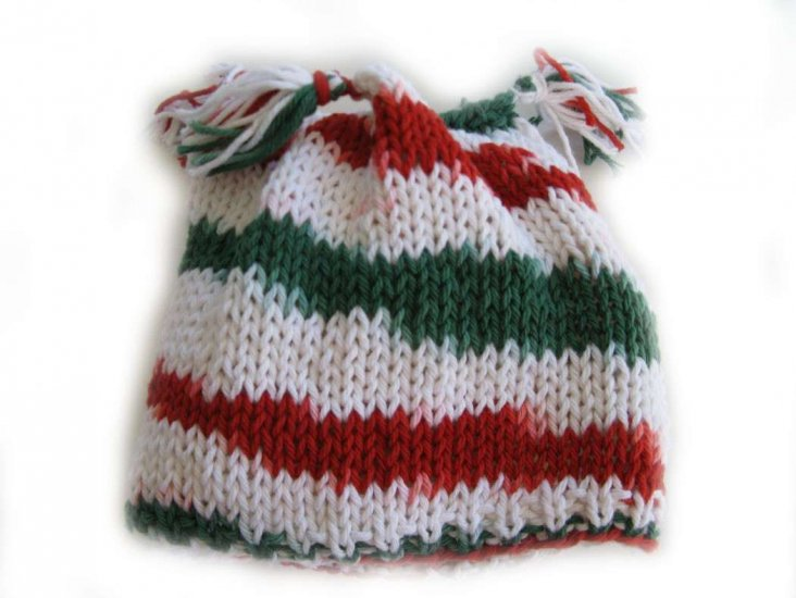 KSS Christmas Cotton Hat with 4 Pom Poms (1 Years and up)