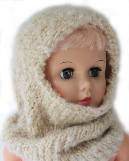 KSS Beige Acrylic Hoodie Hat/Scarf 2 Years and up