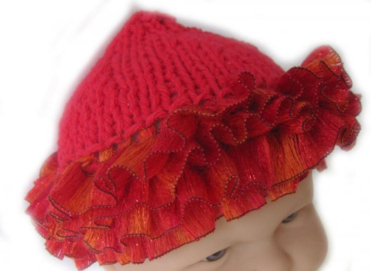 "KSS Red Cotton Whimsical Hat 14-16""/6-18months"