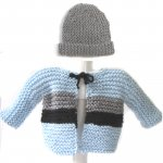 KSS Light Blue Baby Sweater and Hat (3 Months) KSS-SW-484-HA-556-EB