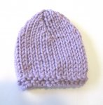 "KSS Lilac Extra Small Winter Beanie 11"" (Newborn) KSS-HA-656"