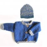 KSS Blue Sweater/Jacket with Grey Trim (6 Months) KSS-SW-805-EB